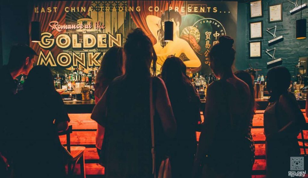 Golden Monkey is all about fine drinks and fun times. You can hang around at the bar, lay back in a booth or set the dance floor on fire. The drinks are designed for a fun night out with friends with refreshingly good cocktails, house made specialty shots and shared punches served in everything from traditional Chinese steamboats to vintage metal trunks.
